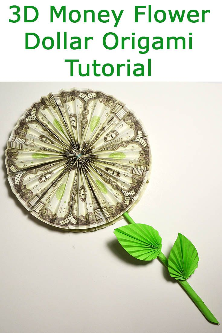 3d Money Flower Folded Origami Dollar Gift Tutorial Diy Wonderful