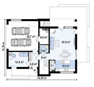 Dise o de casa minimalista de 2 plantas casa1 casas for Diseno de casas minimalistas de una planta