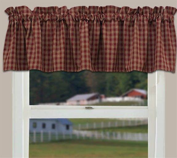 Country Curtain Valance Sturbridge Wine Primitive Kitchen Valances