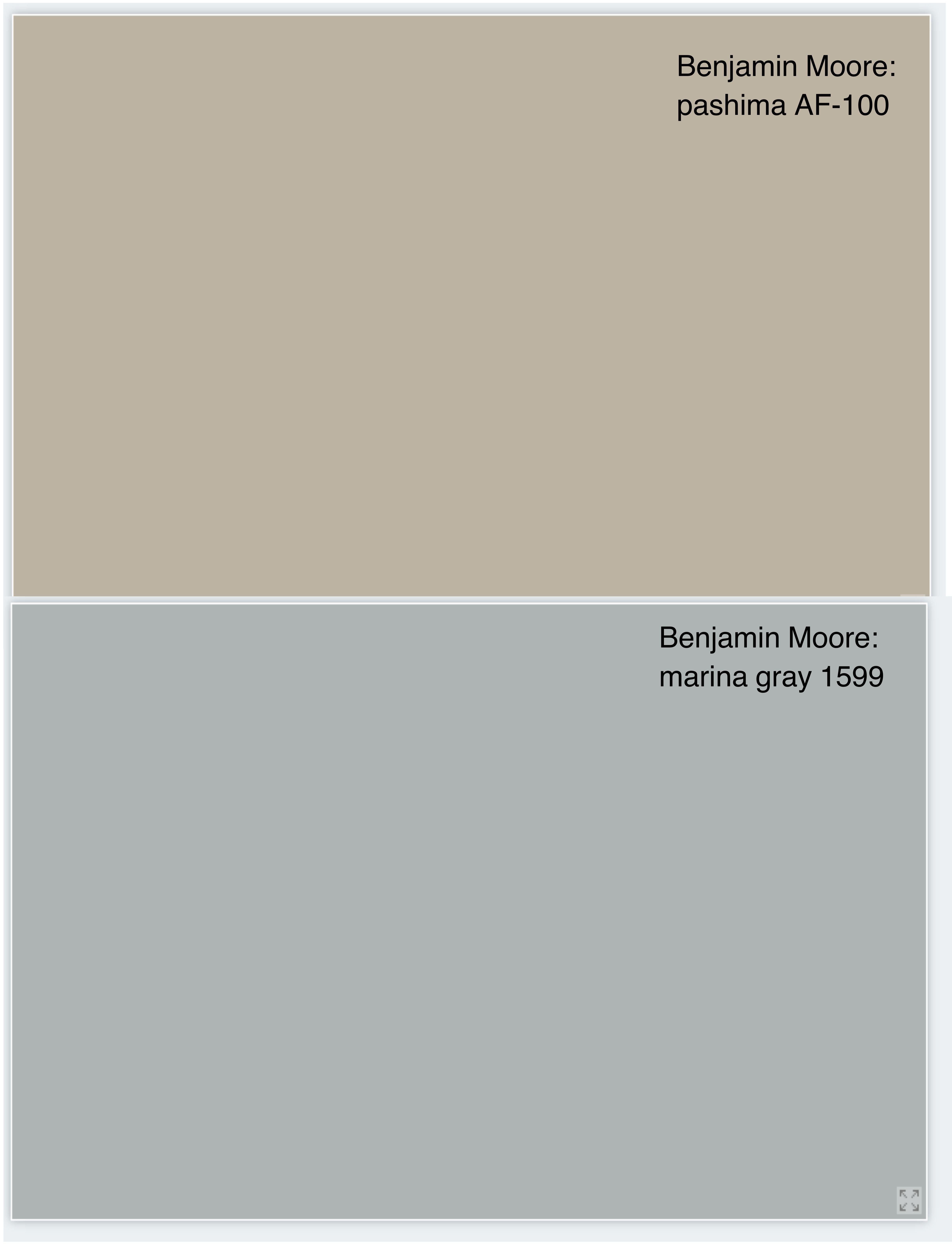 Benjamin Moore Pashmina Af 100 For Walls And Marina Gray