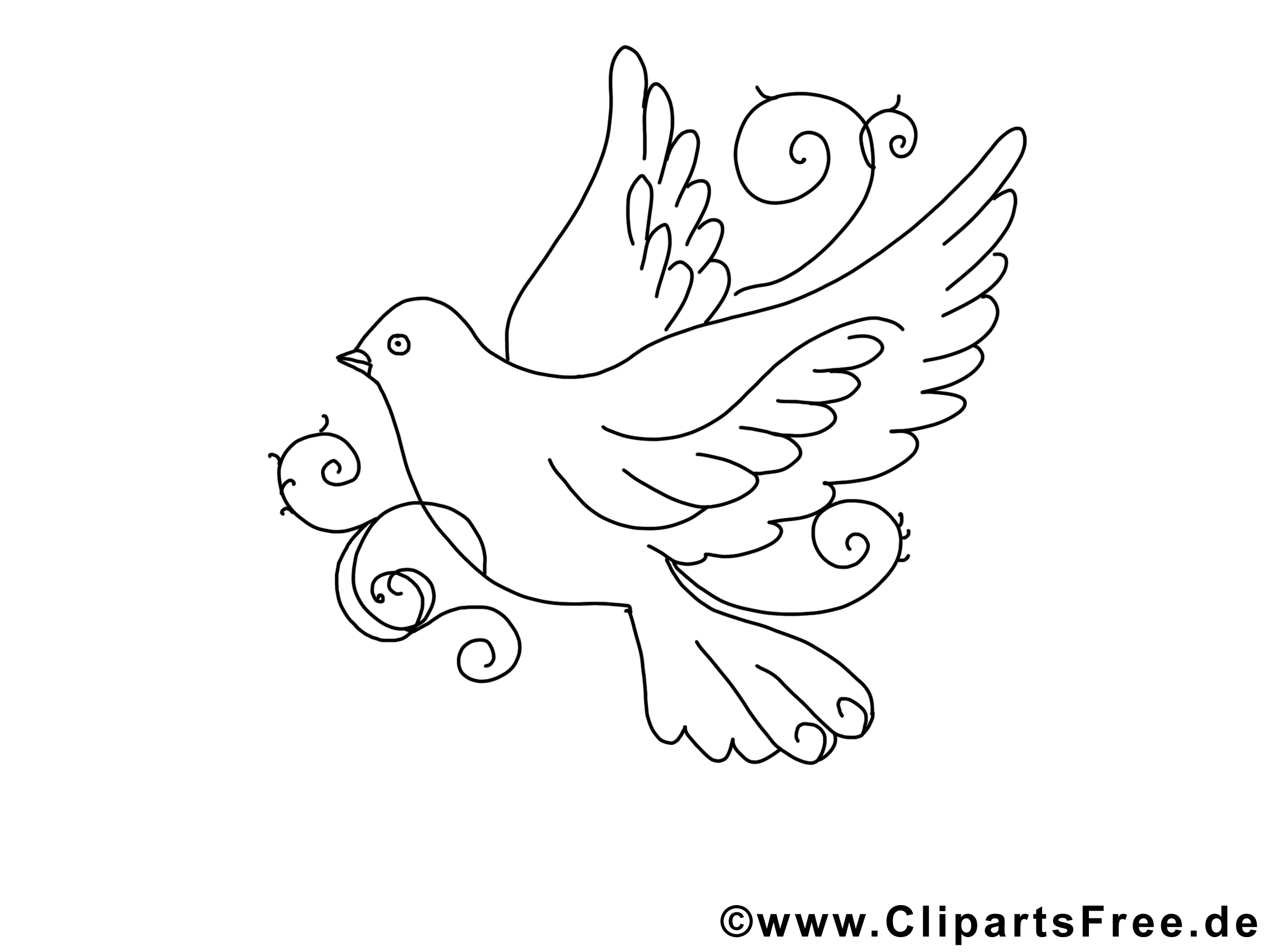 Clip art gratuit colombe pentec te imprimer - Coloriage colombe ...