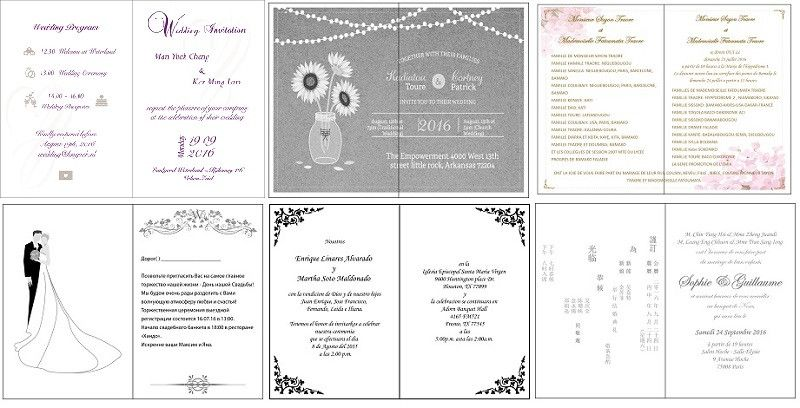 Sample (1 pcs) creative Business invitations Birthday invitations