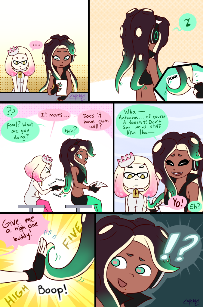 Marina S Hair By Miche21 Deviantart Com On Deviantart Splatoon