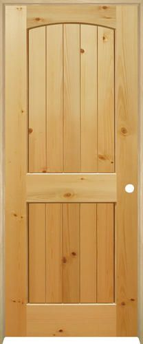 Mastercraft plank knotty pine arched panel prehung interior door at menards also rh pinterest