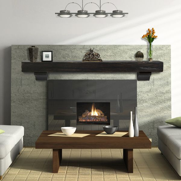 Pearl Shenandoah Espresso Fireplace Mantel Shelf 60 Modern