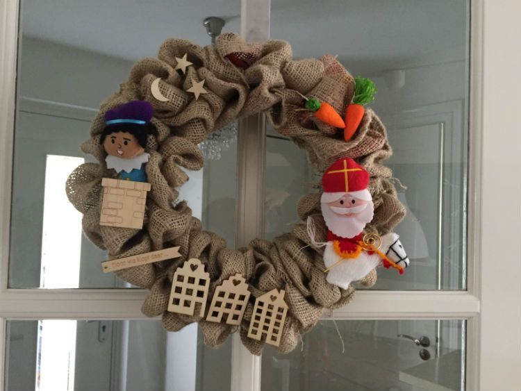 Sinterklaas Krans Zelf Maken Sint Diy Sinterklaas Decoratie Knutsel Idee Sinterklaas