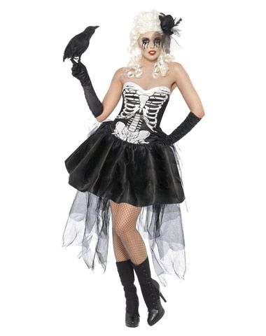 Skelly Von Trap Halloween Costume $3998 The black and white dress - sexy halloween decorations