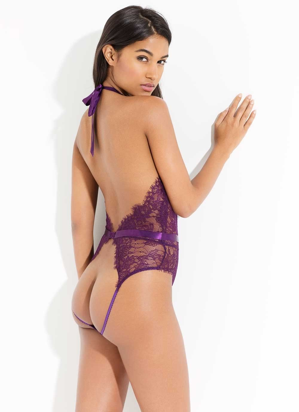 7fb8100352 Idalia Playsuit in Raisin by L Agent by Agent Provocateur.