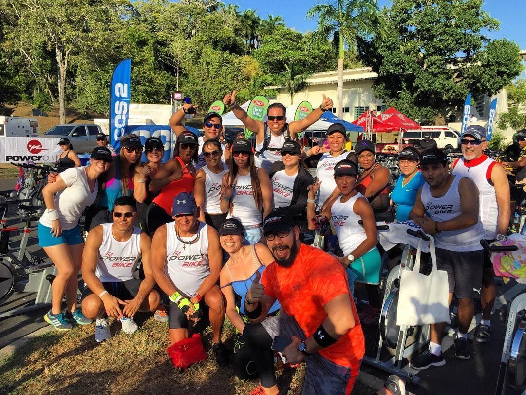 Muchos socios @powerclubpanama pedalendando en @panamapacifico #MaratonDeSpinning