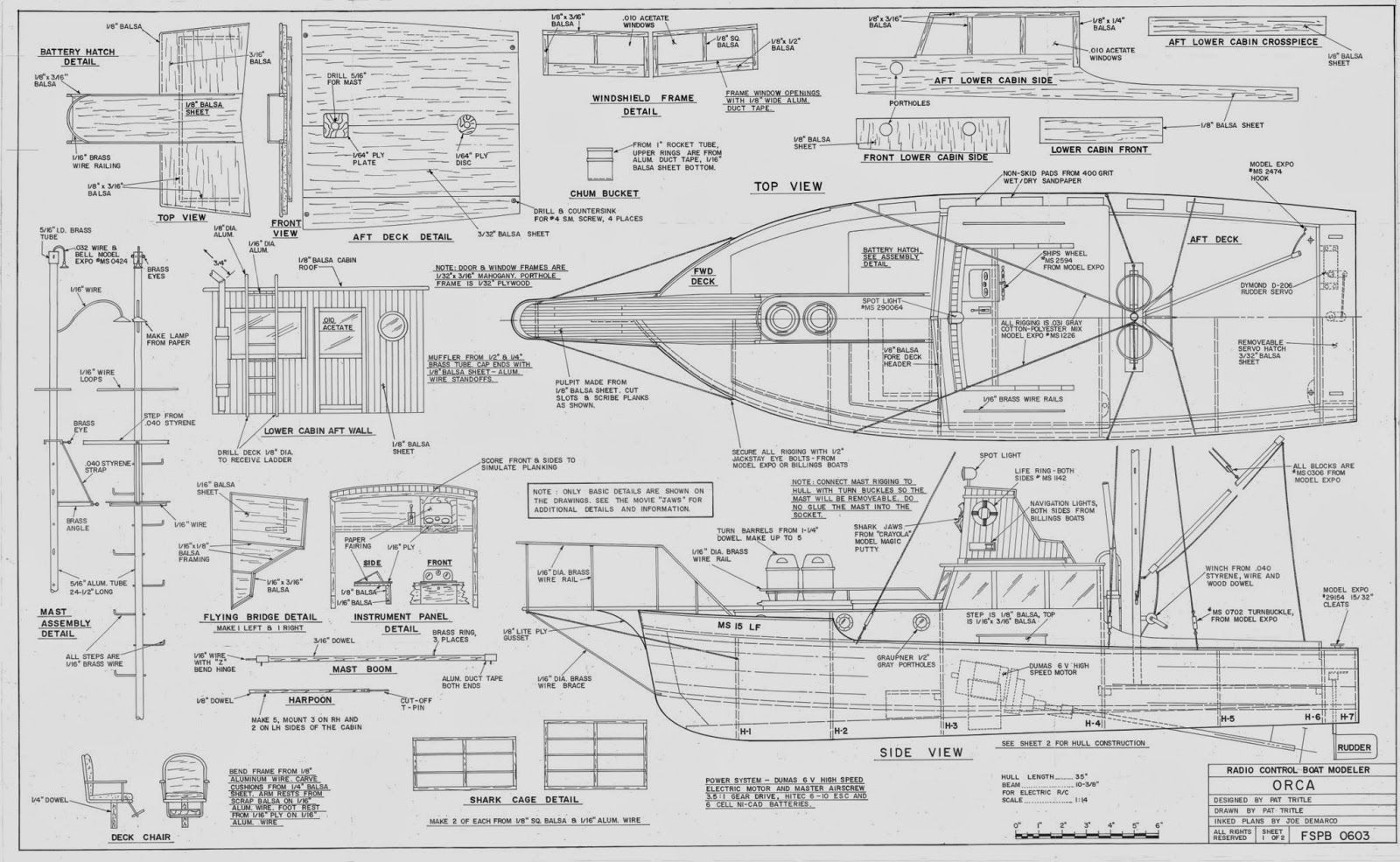 Chris craft model boat plans -  Orca Model Boat From Jaws My Hobby Pages
