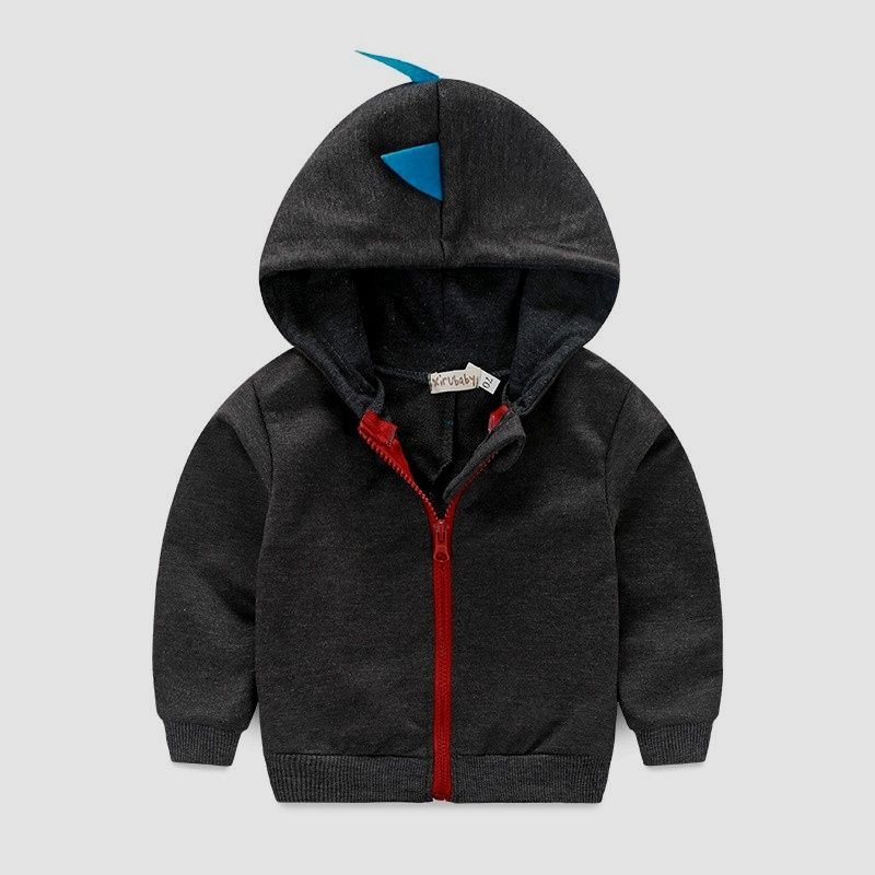499e51c56 Black Dinosaur Baby Hooded Jacket Baby Hooded Windbreaker