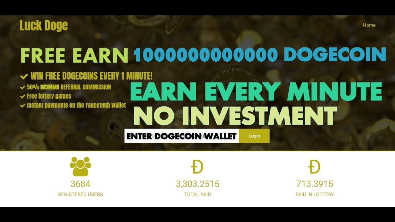 WIN FREE 10000000000 Sat DOGECOINS EVERY 1 MINUTE & Lottery
