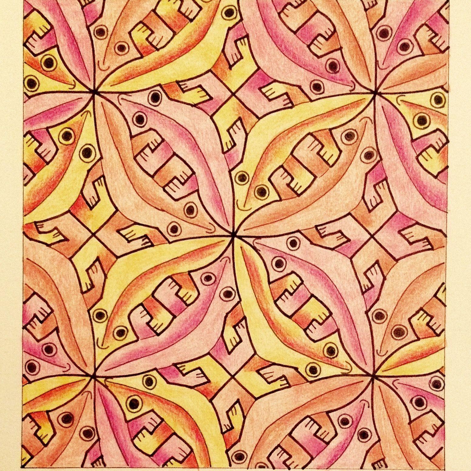 Escher #Tessellation #Tiling #MC_Escher #Geometry #Symmetry My ...