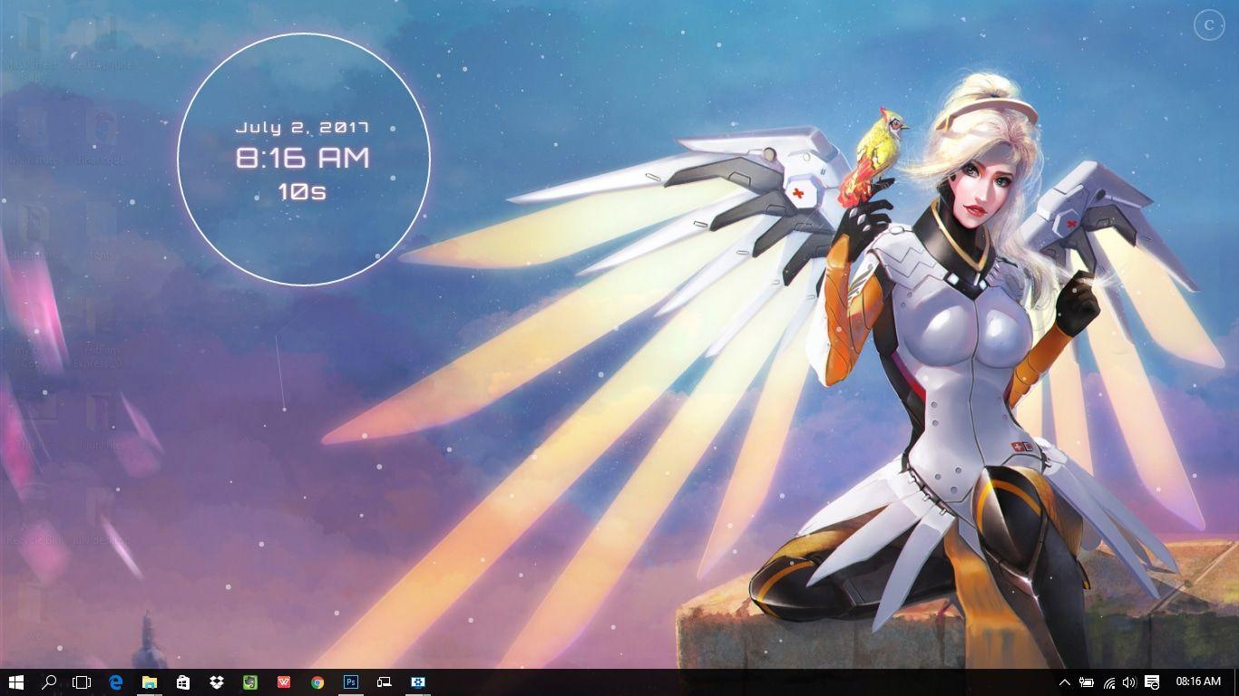 Overwatch Mercy Wings Wallpaper Engine Free Wings