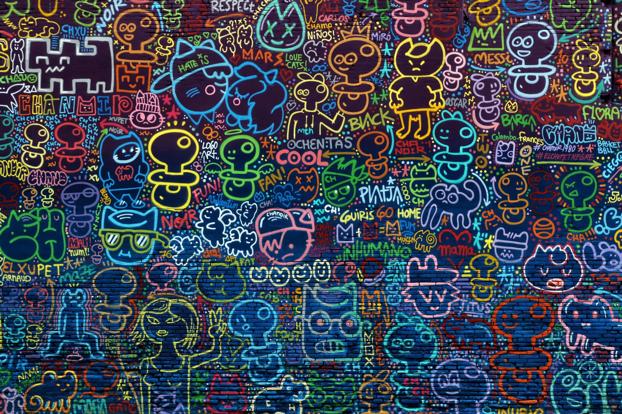 Multicolored Doodle Art Background Wall Drawings 1080p Wallpaper Hdwallpaper Desktop Doodle Art Wall Drawings Lion Artwork