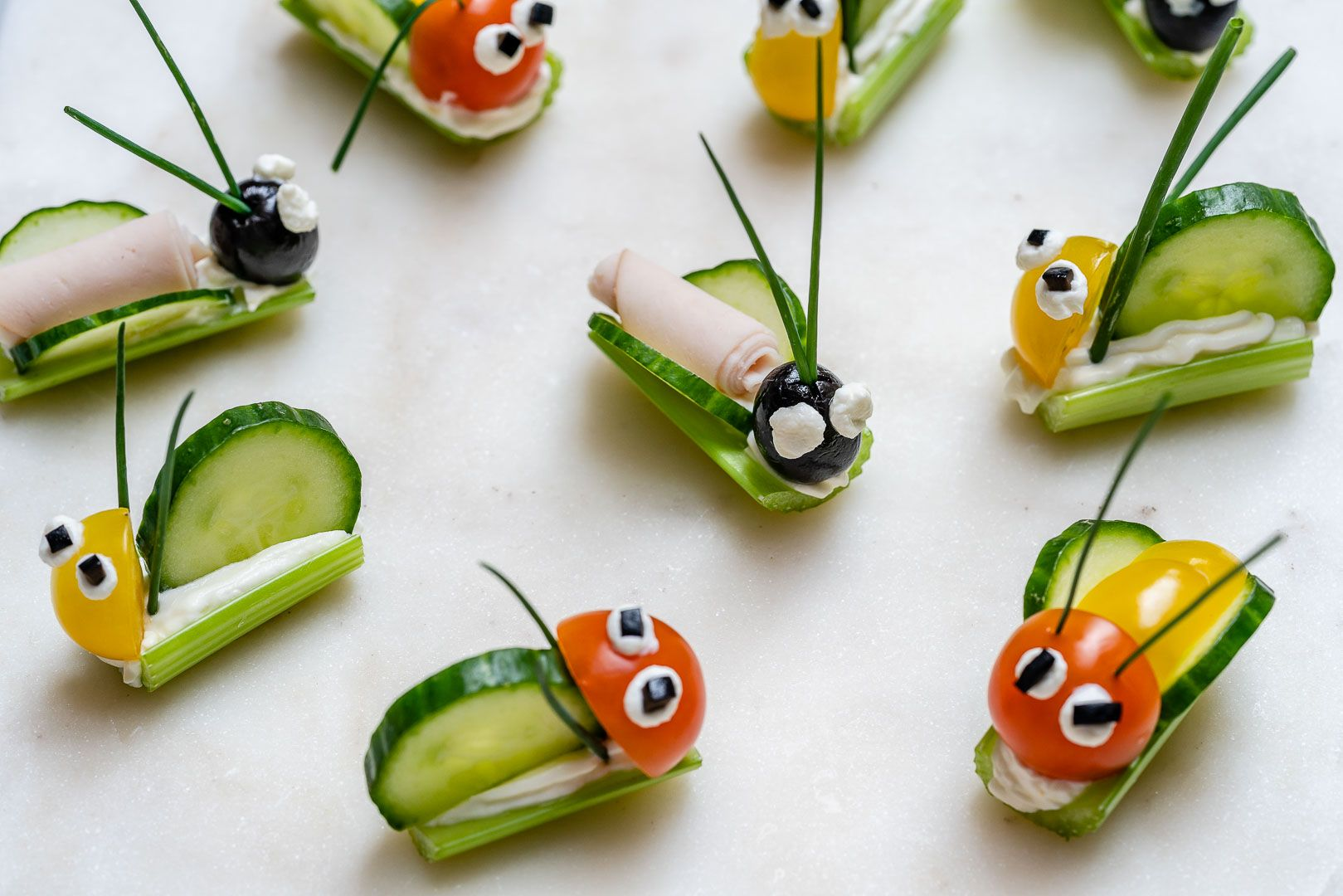 Super FUN Veggie Bug Snacks are PERFECT for Children's Party's or... #childrenpartyfoods