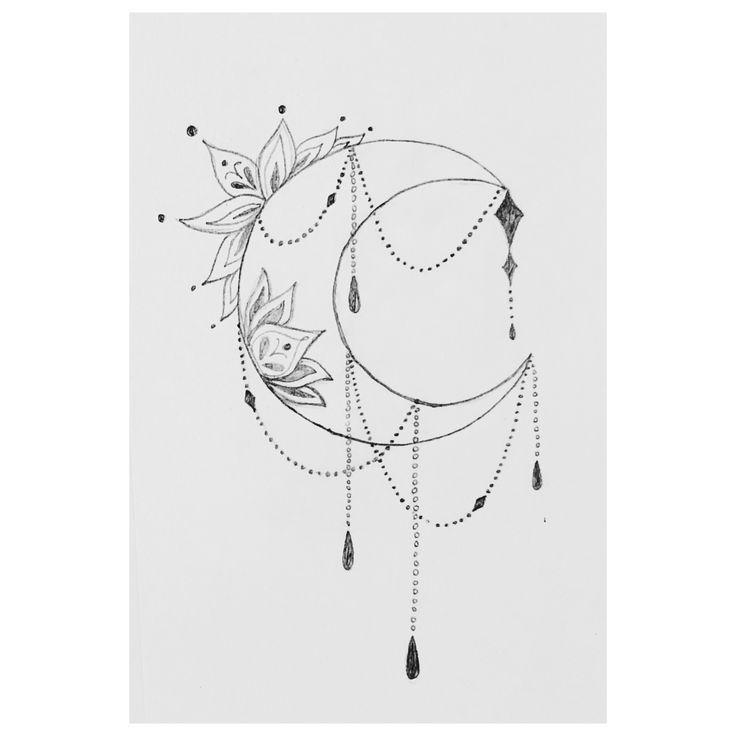 Photo of Croissant de lune Dessin // Idée de tatouage (Sideboob) # Half Moon # Idea #moongoddess # …