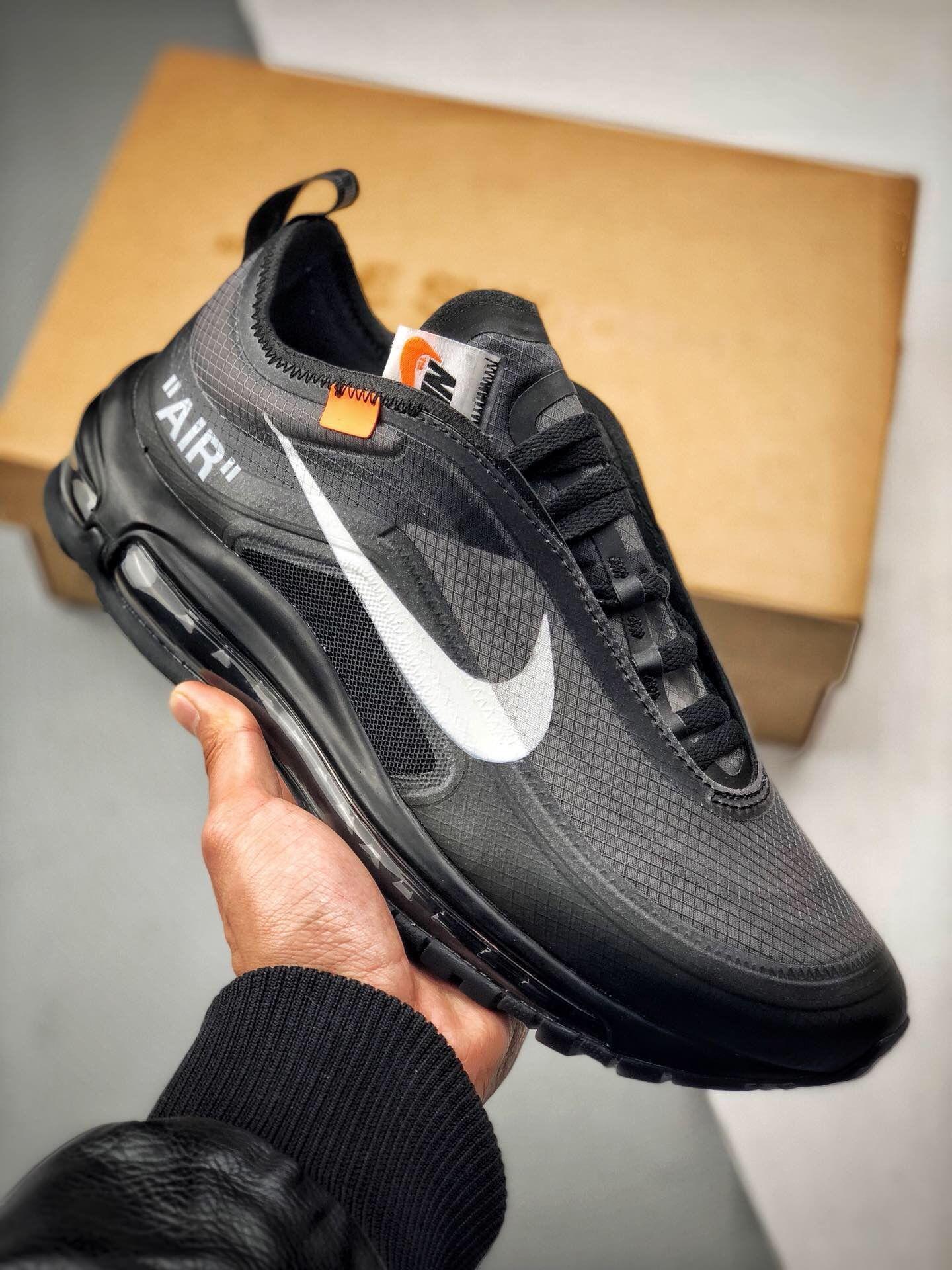 2018 Off White x Nike Air Max 97 OG Trainers In Black AJ4585 001