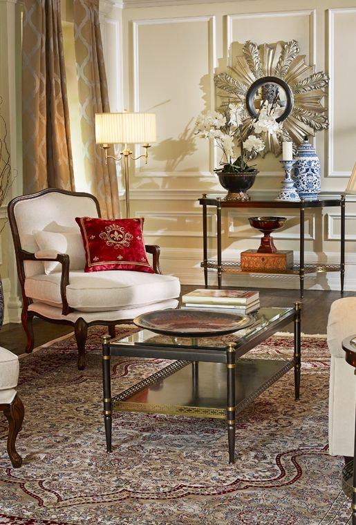 Colonial Elegant Living Room Furniture: Bombay & Co, Inc. :: LIVING ROOM