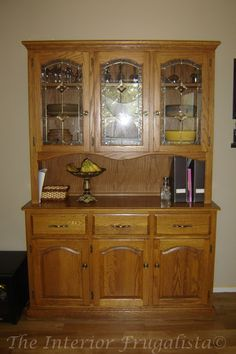 Repurposed China Cabinet Into Kitchen Island And Pantry With