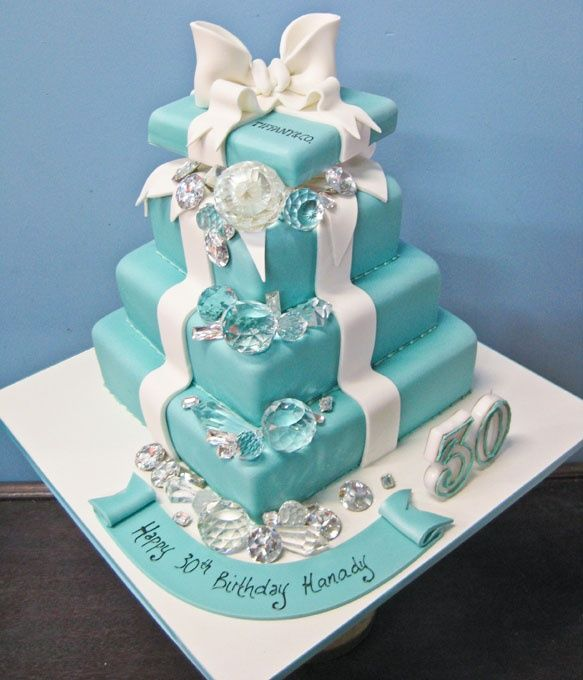 Tiffany Themed Party For Keira S 18th Birthday: Tiffany And Co Cake Design