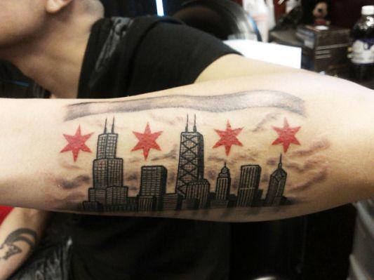 Chicago Skyline Tattoo Chicago Tattoo Chicago Skyline Tattoo