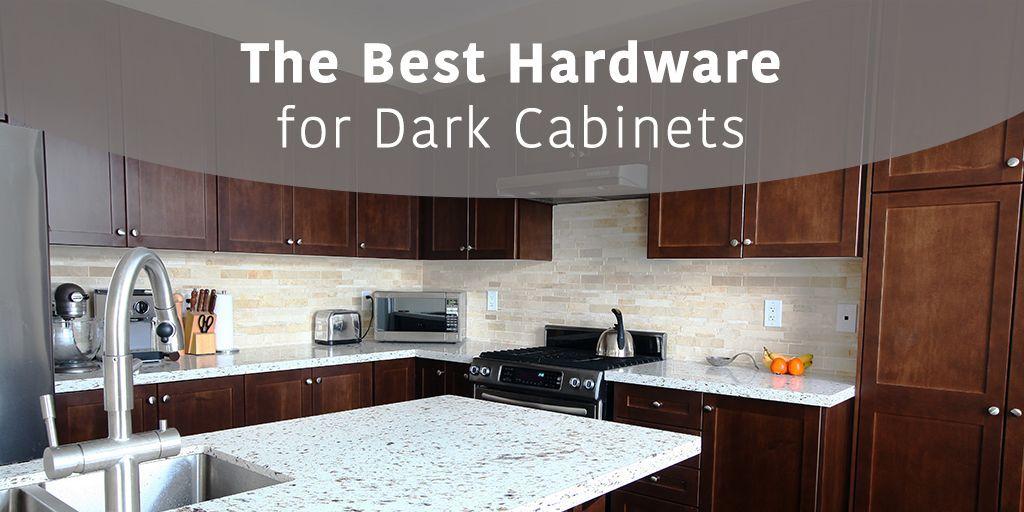 The Best Hardware For Dark Cabinets Cliffside Industries Dark Cabinets Cabinet Dark Kitchen