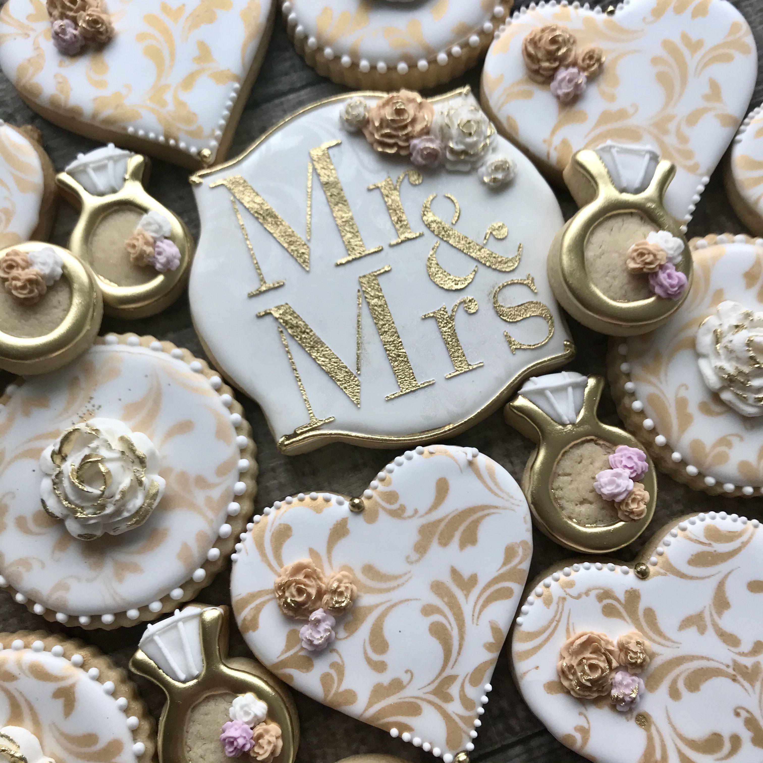 Custom decorated wedding cookies wedding cookies