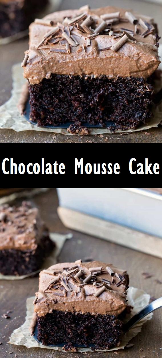 Chocolate Mousse Cake #mousecake #cakerecipes #desserts #cinnamonrollpokecake