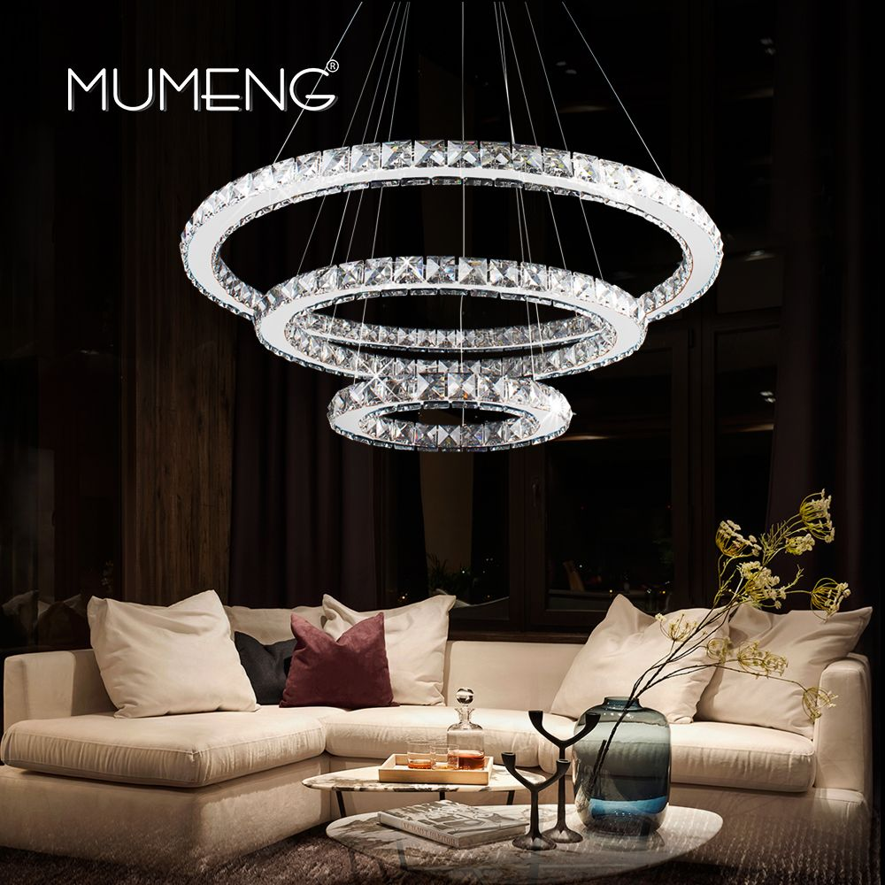 Reviews led crystal pandant light modern ring ceiling lamp fixture reviews led crystal pandant light modern ring ceiling lamp fixture 1 2 3 circle chandelier lighting dining room hanging lamps luxture discount led aloadofball Choice Image