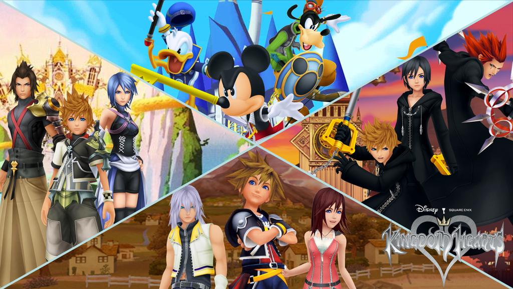 Kingdom Hearts Heroes By The4thsnake D62jobf Png 1024 577 Kingdom Hearts Kingdom Hearts Games Kingdom Hearts 3