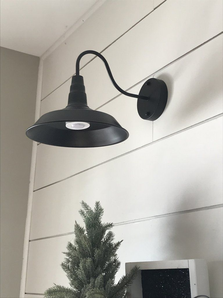 Wireless Barn Wall Sconce With Dimmer Remote Set Of 2