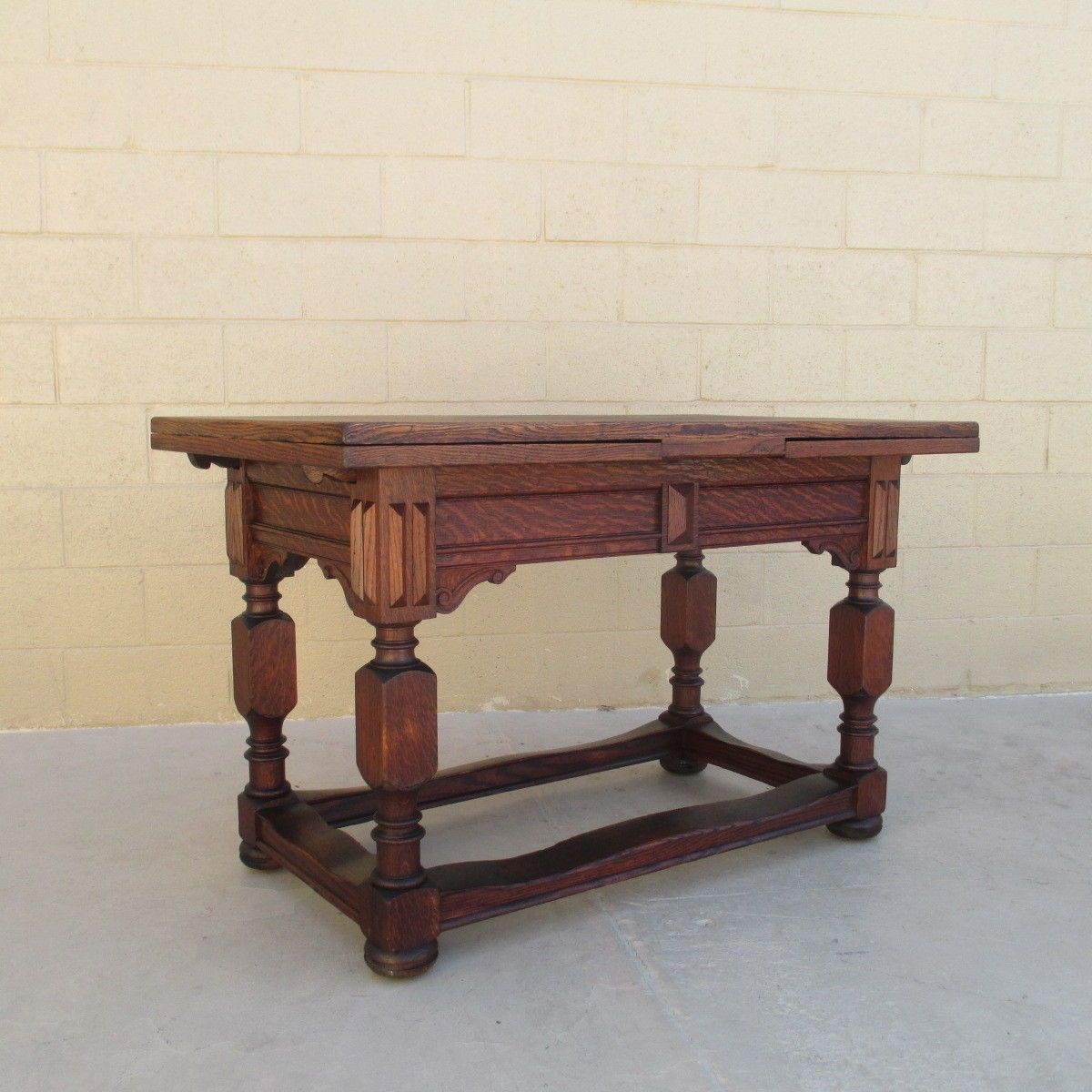 English Antique Refectory Table Extendable Library Table Antique ...