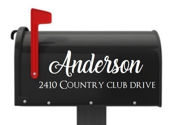 Mailbox Letters 2 PC SET Name Number Custom Mailbox Sticker Personalized  Address