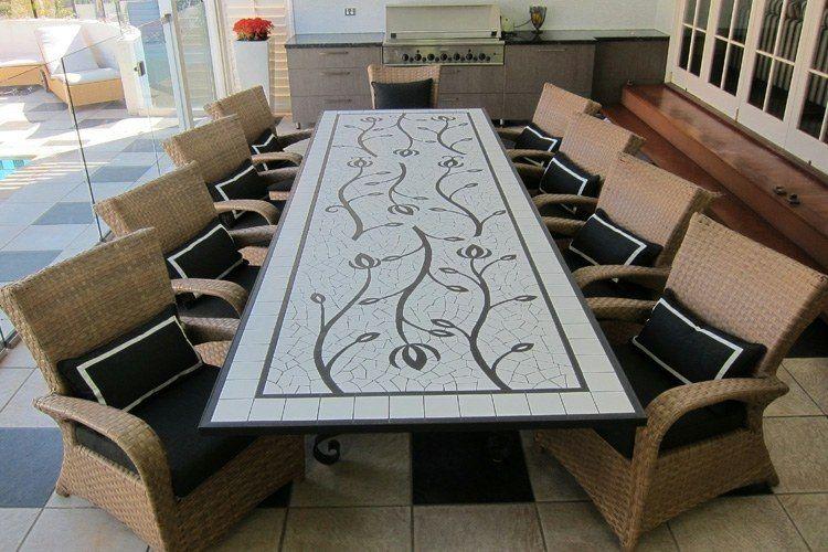 Déco jardin avec mosaïque en 28 beaux exemples | Tables & chaises ...