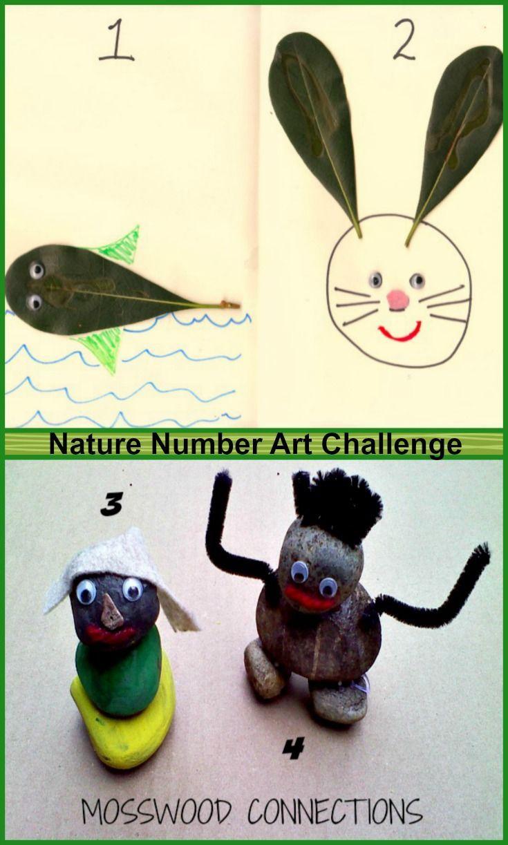 Nature Number Art Challenge Educationhomeschooling Pinterest
