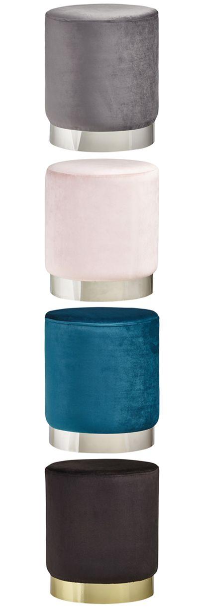 Samt Hocker In Verschiedenen Farben Pouf In Grau Rosa Blau Schwarz Hocker Samt Kuchenausstattung