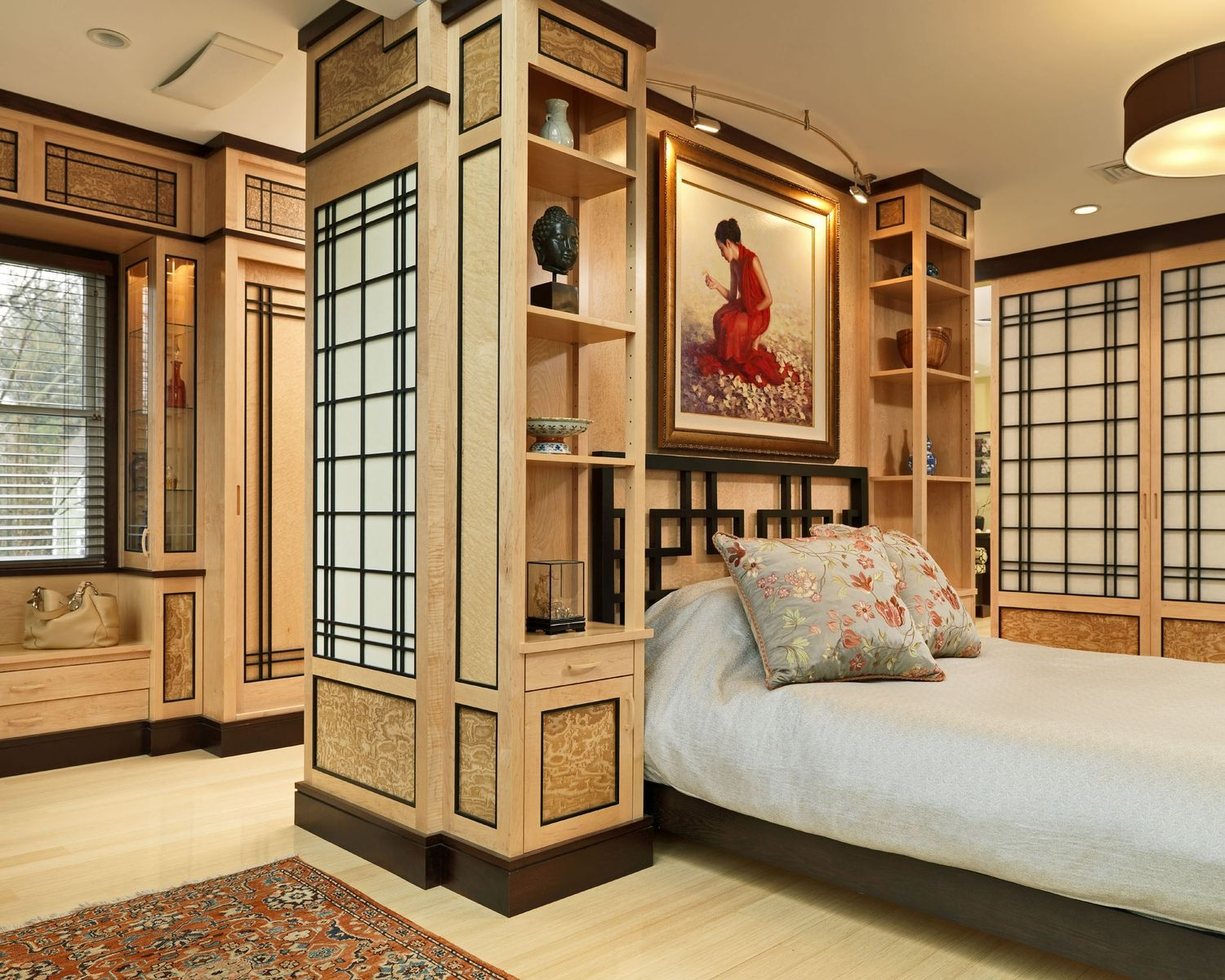 Wonder why this 100,000 custom Asian bedroom is on this