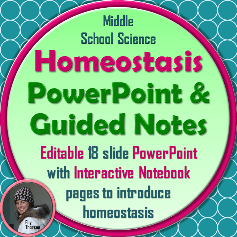 Homeostasis PowerPoint and Guided Notes for Interactive