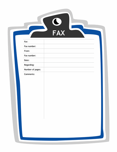 Fax Cover Sheet Clipboard Design  Templates  Projects To Try
