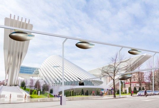A futuristic maglev hover monorail to be built at the Israel Aerospace Industry campus in Lod: http://bit.ly/1pEyWpz #engineering | via Inhabitat