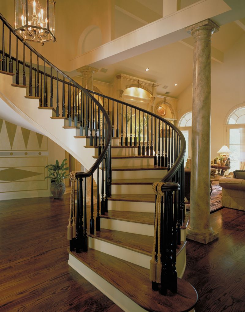 Best Luxury Curved Staircase Plan 020S 0004 House Plans And More Staircase Design Spiral 400 x 300