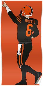 Baker Mayfield's First Win Poster | Products | Baker mayfield  for cheap
