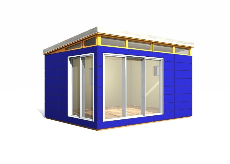 12 x 16 modern shed 192 sq ft prefab shed kit provided for Prefab garden sheds