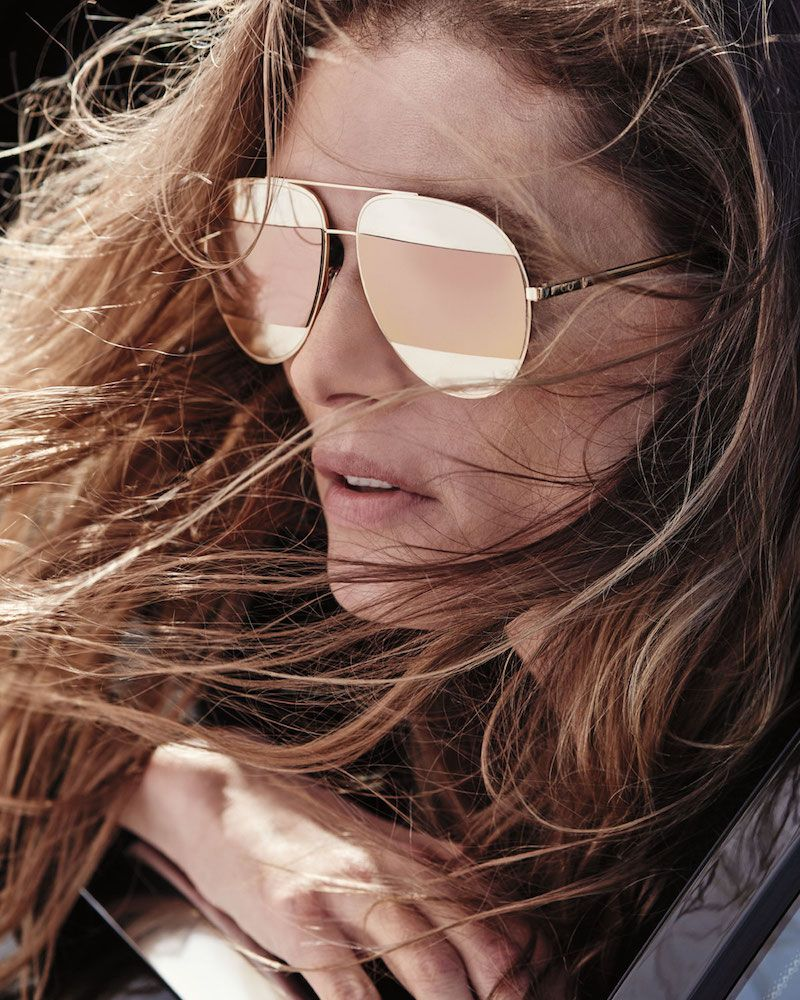 Dior DiorSplit Two-Tone Metallic Aviator Sunglasses Lunettes De Soleil,  Bijoux, Mode, b0914ed03715