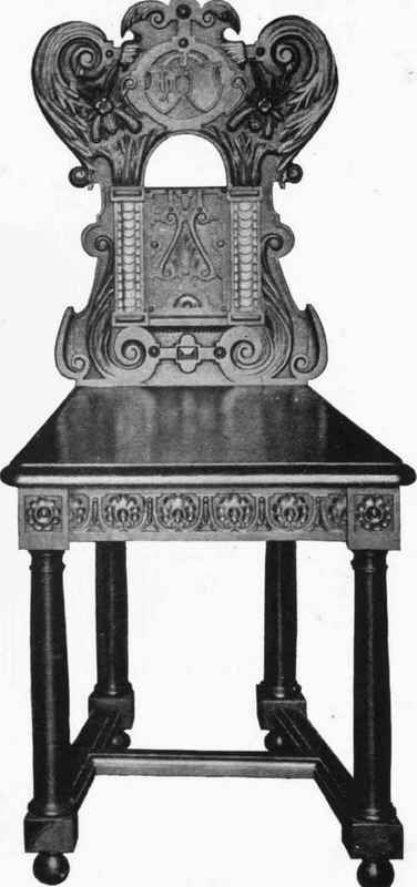 RENAISSANCE CHAIR. Palace Of Compiegne.