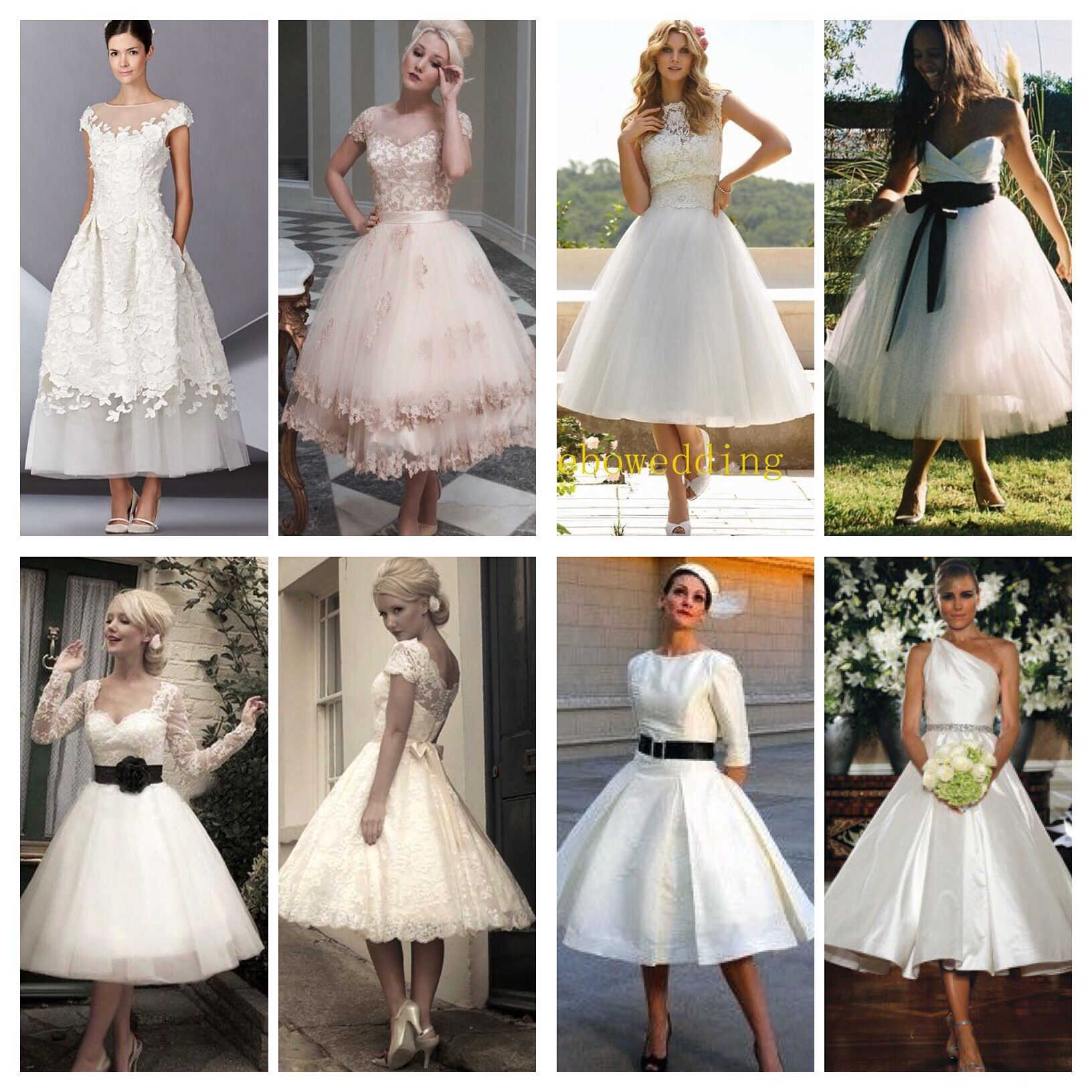 nontraditional wedding dresses tea length dresses bridesmaids