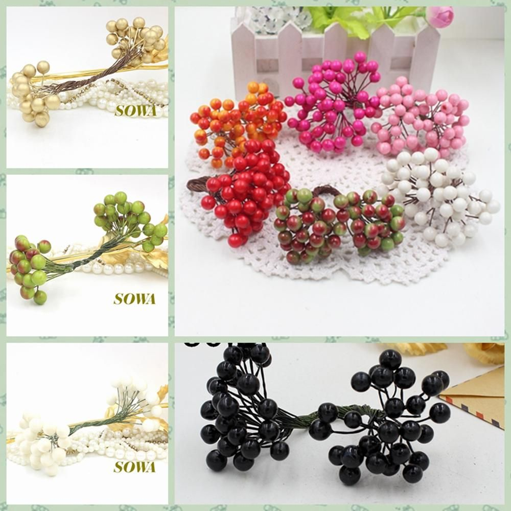 Visit To Buy Cheap 50 Heads 8mm Berry Bacca Artificial Flower For
