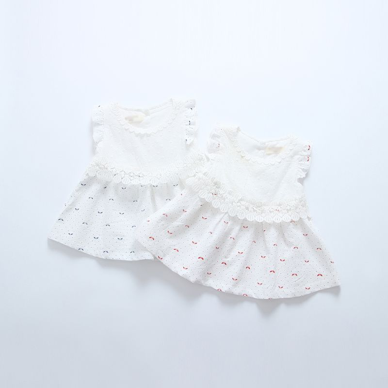e745bf387f96 6 Pcs Baby Dress 0-1-2 Years Old Baby Girl Summer Pure Cotton   Linen Skirt  Princess Skirt Summer