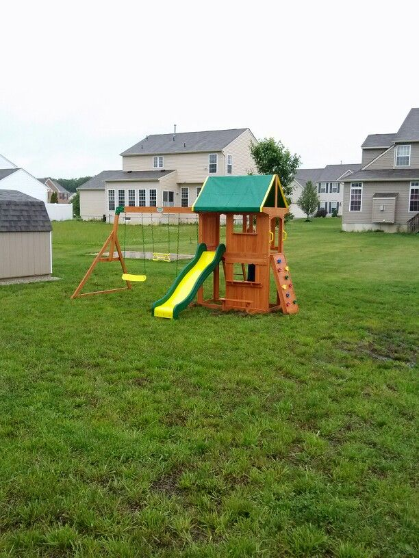 Backyard Discovery Somerset Playset From Wal Mart Installed In